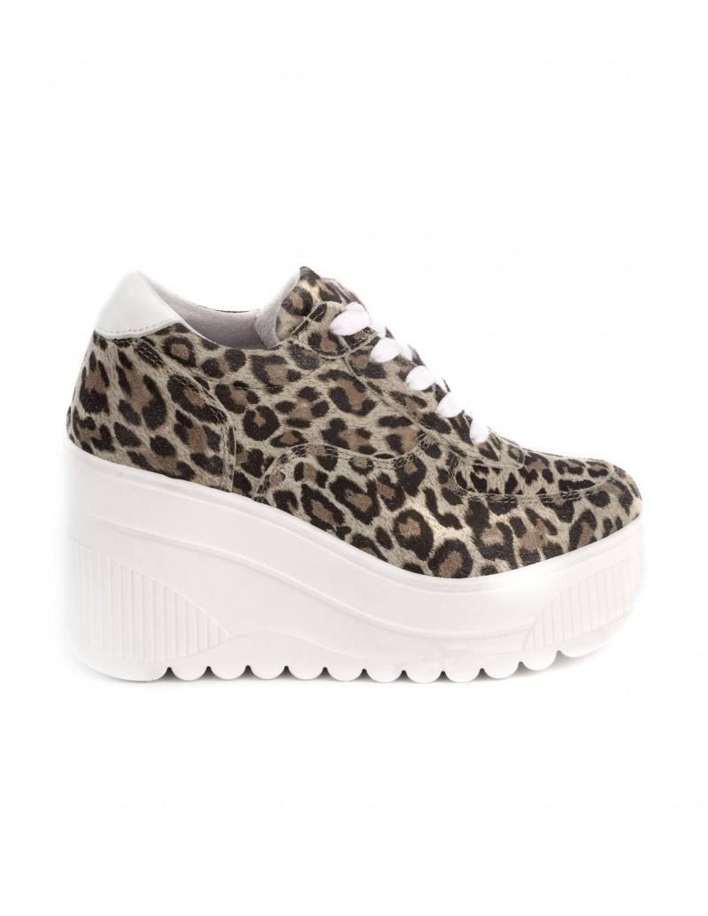 deportivas plataforma leopardo mujer