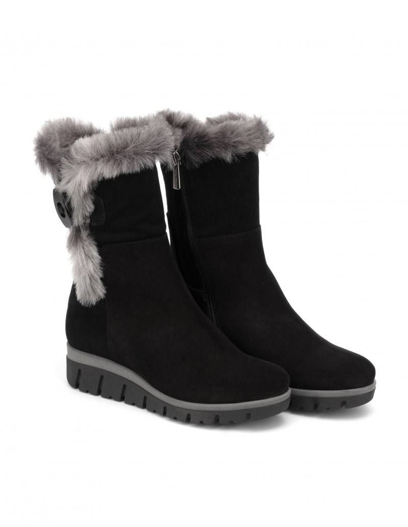 zapatos para baratas calidad perfecta Nuevos objetos Botas Pelo Media Caña Negro