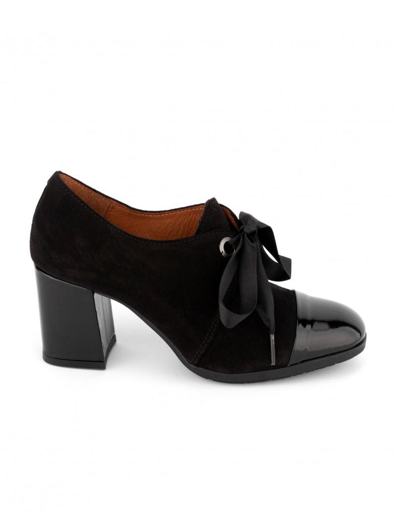 en venta 4443d 3a1ab Zapatos Cordones Tacón Lazo