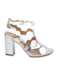 Zapatos fiesta tiras plata