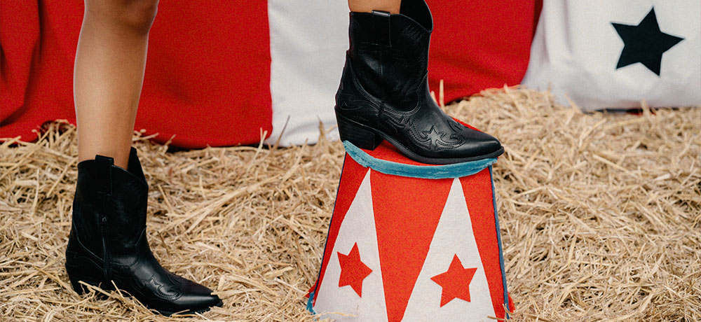 botas cowboy caña baja