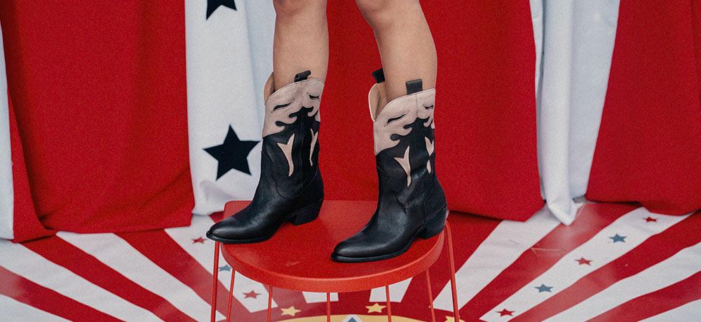 botas cowboy piel mujer
