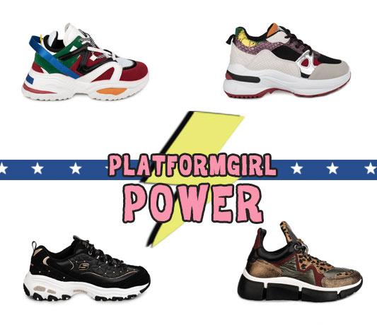 tendencias zapatos mujer deportivas plataforma