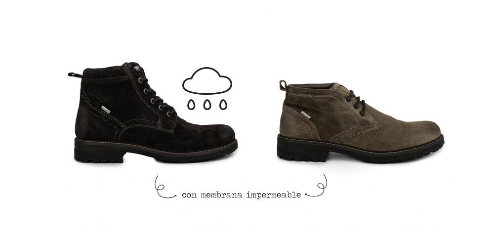 botas impermeables hombre