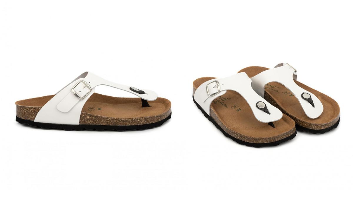 sandalias corcho blancas