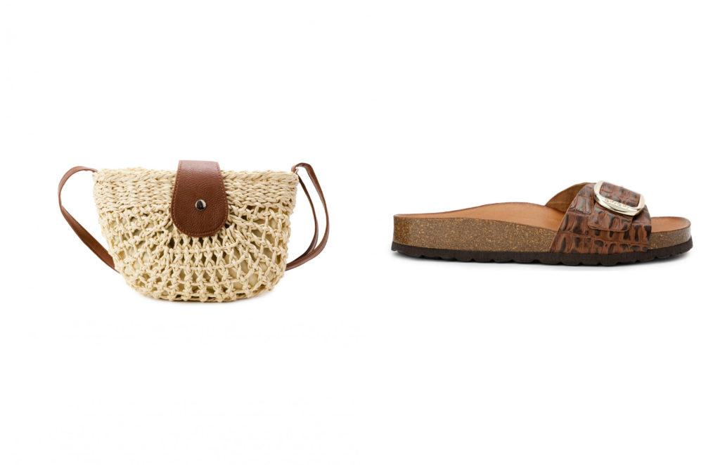 sandalias y bolso estilo ibicenco