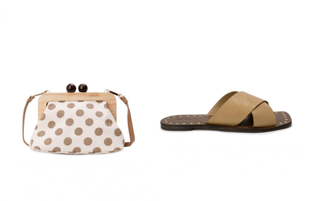 combinar bolso y sandalias beige