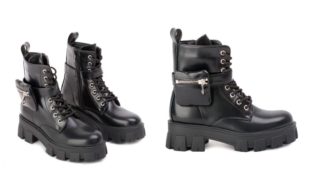 botas con bolsillos mujer