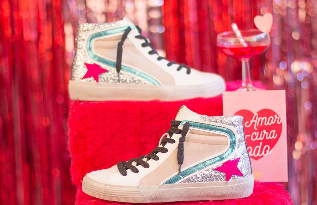 zapatillas estrella glitter