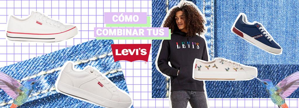 combinar zapatillas casual hombre levis